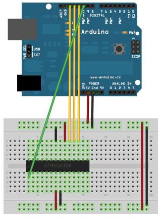 ATmega328P on a breadboard bootloader configuration